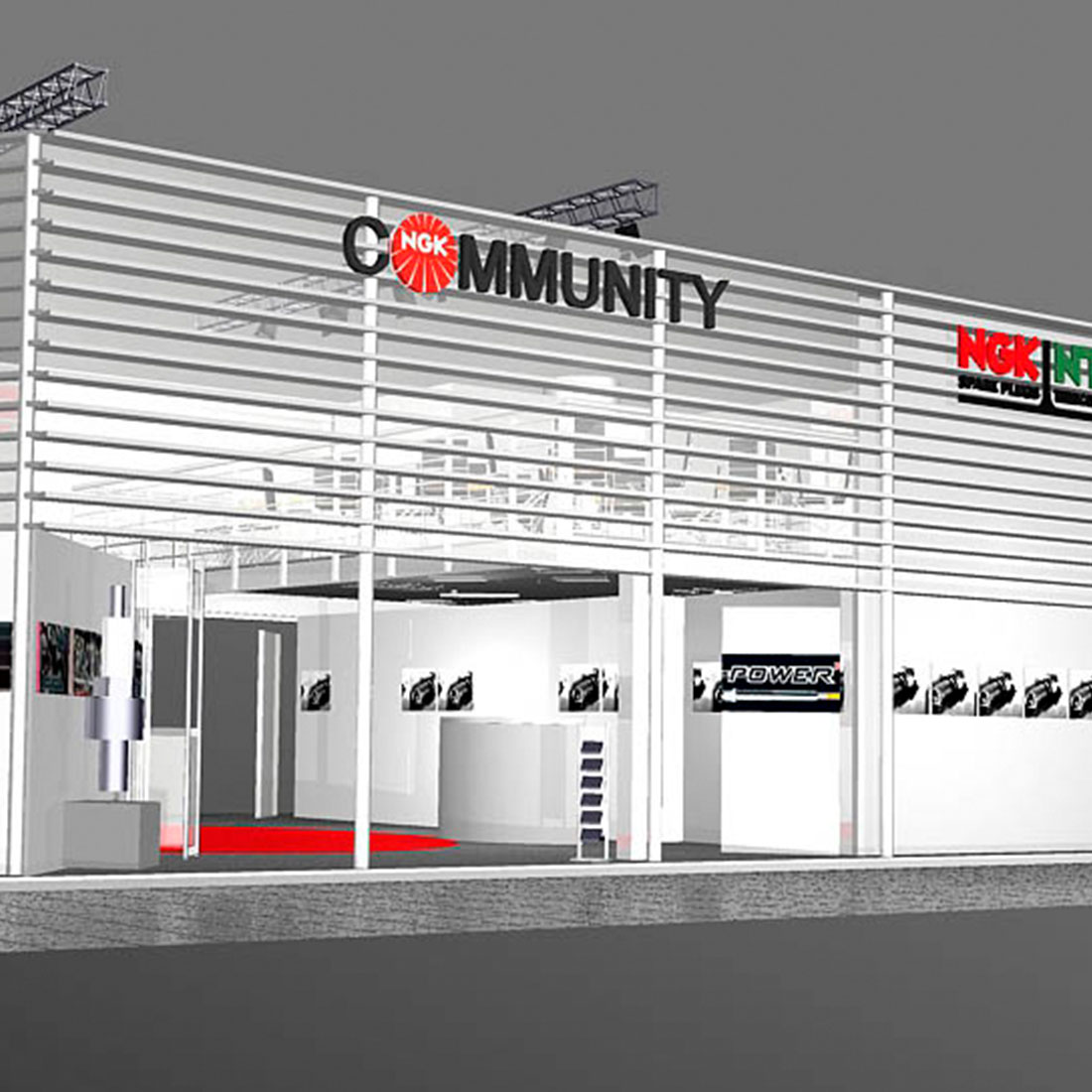 NGK Messestand 3D Animation